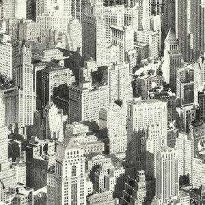 RK4507 urban chic big apple cityscape wallpaper gray black white