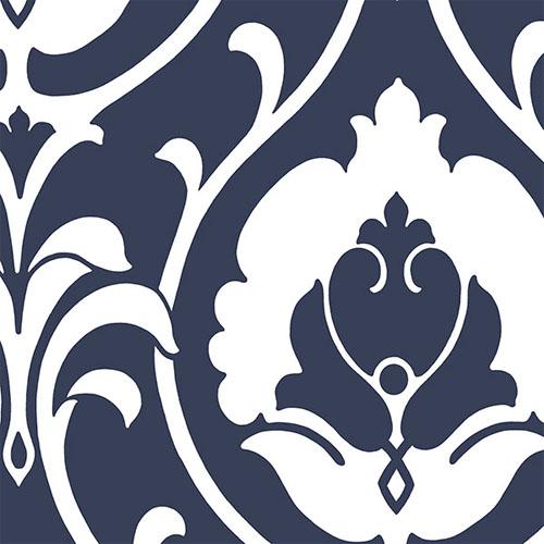 SH34512 shades ogee damask wallpaper blue white
