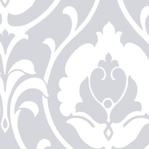 SH34514 shades ogee damask wallpaper gray white