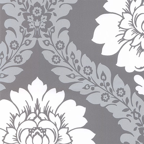 TU27124 shades classic damask wallpaper gray ivory platinum