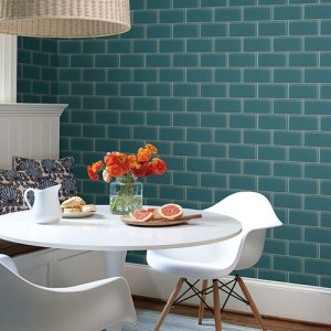urban chic grand central subway tile wallpaper roomset