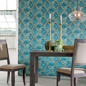 urban chic malachite trellis wallpaper roomset