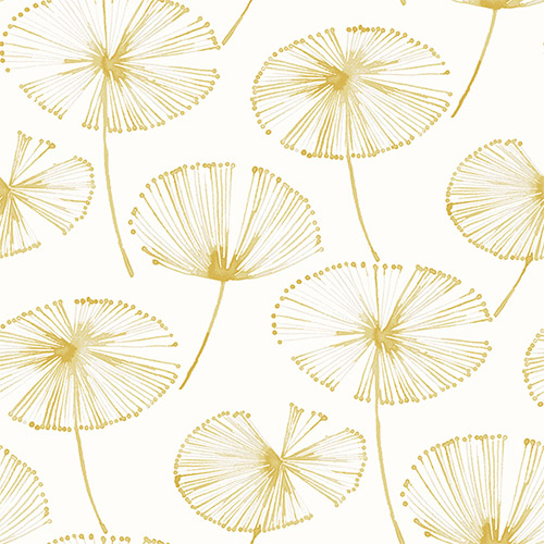 2656-004026 Catalina Paradise Fronds Wallpaper Yellow