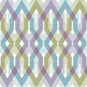 2656-004040 Catalina Harbour Lattice Wallpaper Lavender
