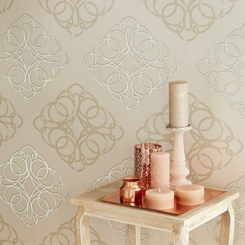 Venue Mikhaila Medallion Wallpaper Roomset