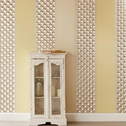 Venue Vasili Optical Stripe Wallpaper Roomset