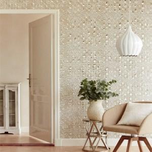 Venue Ilias Optical Damask Wallpaper Roomset