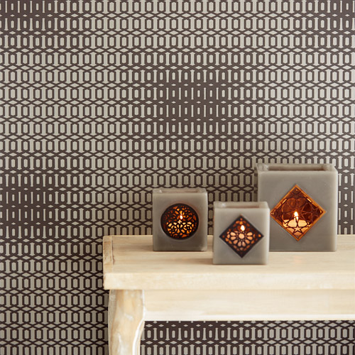 Venue Rhona Geometric Wallpaper Roomset