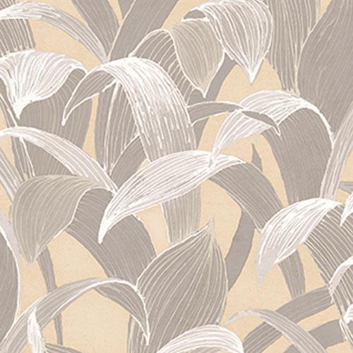 AI40308 Koi Imperial Leaf Wallpaper Gray