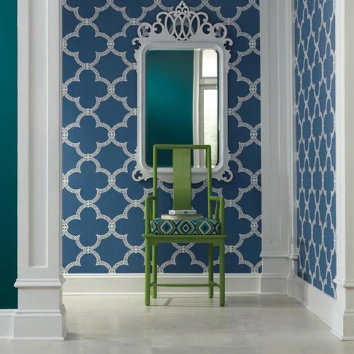 Pattern Play Serendipity Trellis Wallpaper Roomset