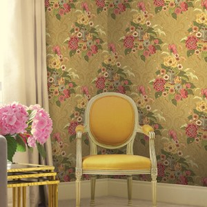 Koi Dynasty Floral Wallpaper Roomset