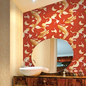 Koi Fish Wallpaper Roomset