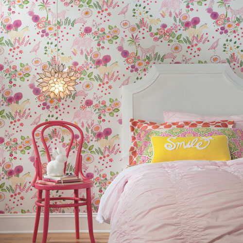 Waverly Kids Reverie Sure Strip Wallpaper Roomset