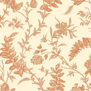 WM2520 Williamsburg Solomon's Seal Sure Strip Wallpaper Orange