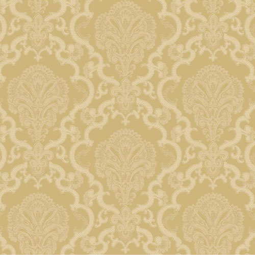 WM2567 Williamsburg Halifax Lace Sure Strip Wallpaper Metallic Gold