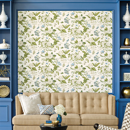 Williamsburg Garden Images Sure Strip Wallpaper Roomset