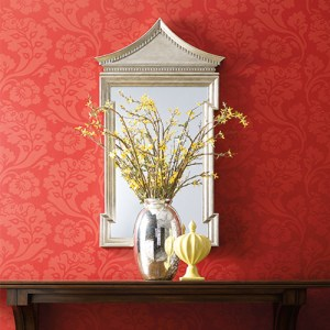 Williamsburg Pembroke Sure Strip Wallpaper Roomset