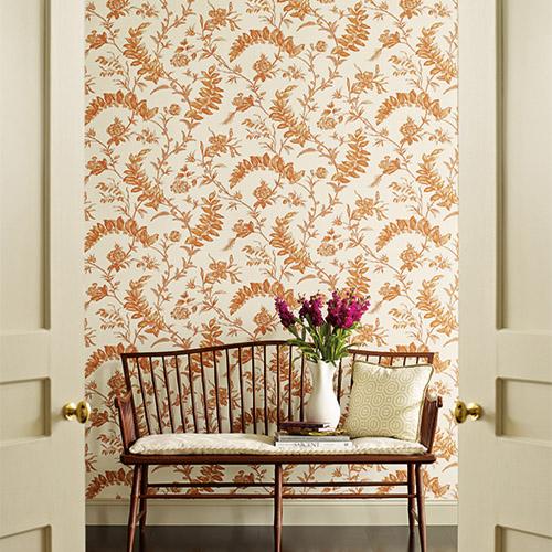 Williamsburg Solomon's Seal Sure Strip Wallpaper Roomset