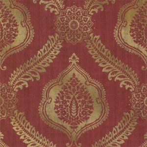 2618-21301 Alhambra Zoraya Damask Wallpaper Burgundy