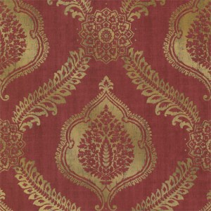 2618-21301 Alhambra Zoraya Damask Wallpaper Burgundy