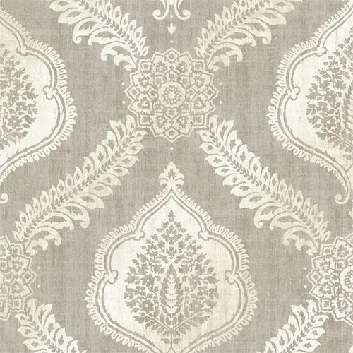 2618-21304 Alhambra Zoraya Damask Wallpaper Taupe