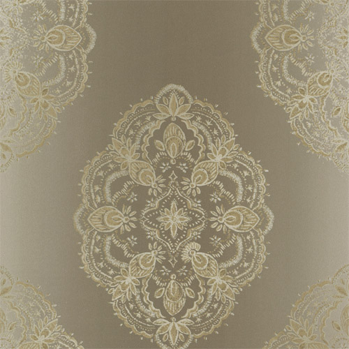 2618-21332 Alhambra Mirador Global Medallion Wallpaper Taupe