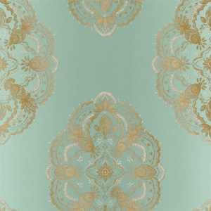 2618-21334 Alhambra Mirador Global Medallion Wallpaper Aqua