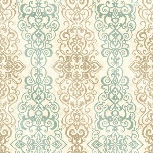 2618-21346 Alhambra Mexuar Filigree Stripe Wallpaper Aqua