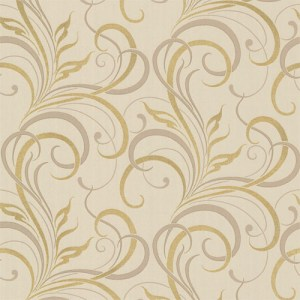 2618-21360 Alhambra Rauda Modern Scroll Wallpaper Taupe