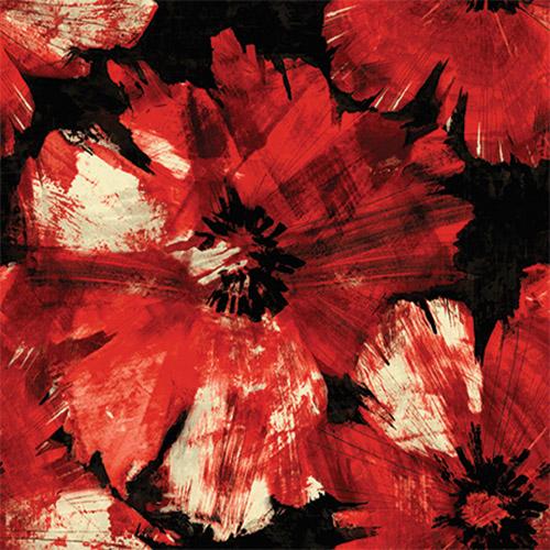 AV50001 Seabrook Avant Garde Curie Large Floral Wallpaper Red