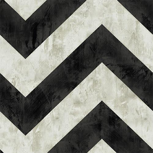 AV50400 Seabrook Avant Garde Hubble Chevron Wallpaper Black and White
