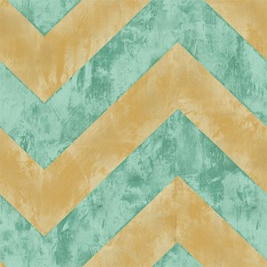 AV50415 Seabrook Avant Garde Hubble Chevron Wallpaper Turquoise Metallic Gold