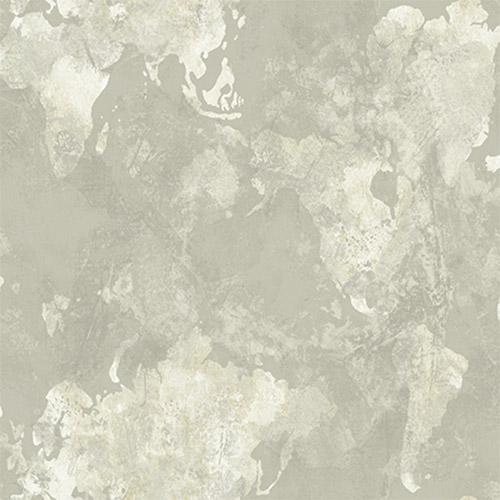 AV50908 Seabrook Avant Garde Galileo Continents Wallpaper Gray