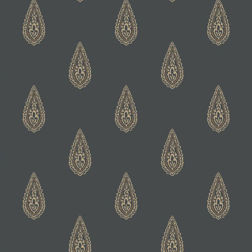 BH8325 Antonina Vella Kashmir Luxury Teardrop Wallpaper Black