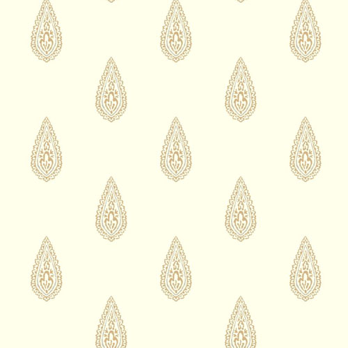 BH8326 Antonina Vella Kashmir Luxury Teardrop Wallpaper Beige