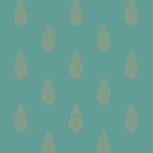 BH8327 Antonina Vella Kashmir Luxury Teardrop Wallpaper Turquoise