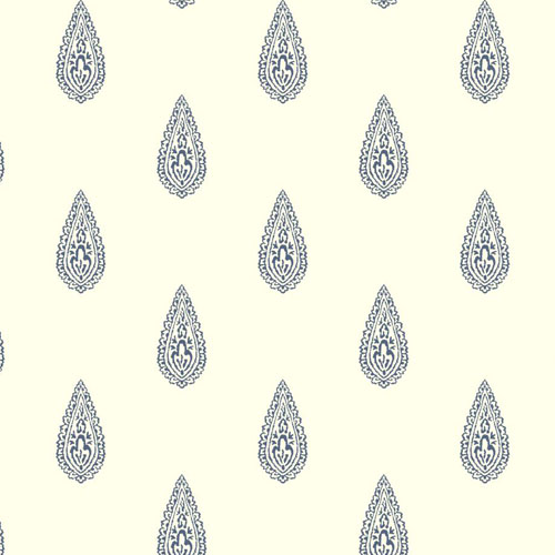 BH8329 Antonina Vella Kashmir Luxury Teardrop Wallpaper Navy