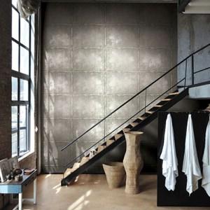 Journeys Cavendish Sheet Metal Wallpaper Roomset