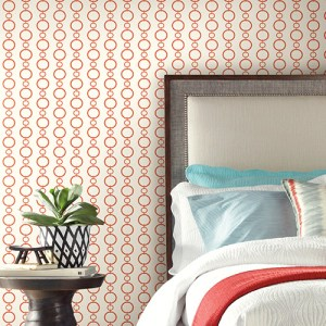 Waverly Stripes Chain Stripe Sure Strip Wallpaper Roomset