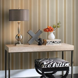 Waverly Stripes Long Hill Stripe Sure Strip Wallpaper Roomset