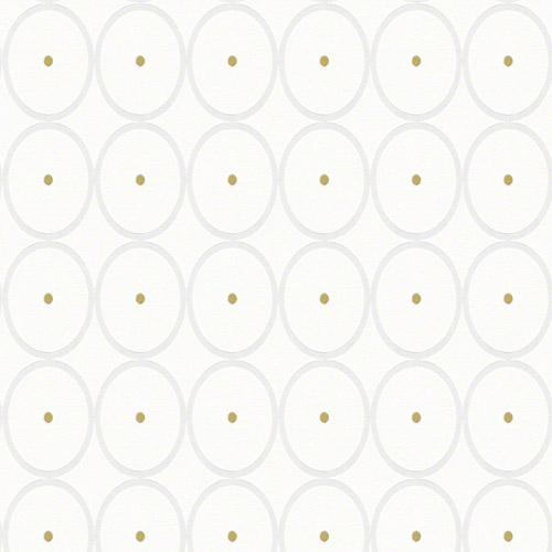 940193 Raffi My Home Bamboo Circles Wallpaper White