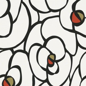 940273 Raffi My Home Rose Contour Wallpaper Black and White