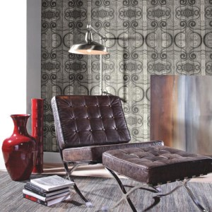 Carey Lind Menswear Wave Length Sure Strip Wallpaper Roomset