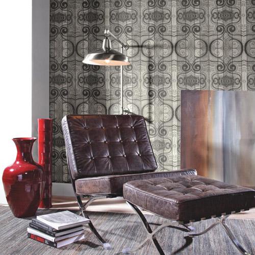 Carey Lind Menswear Wave Length Sure Strip Wallpaper Roomset