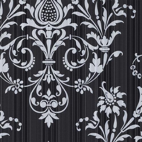 CS27361 Norwall Classic Silks 2 Stria Damask Wallpaper Onyx