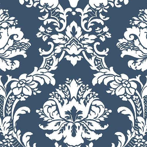 CS35600 Norwall Classic Silks 2 Traditional Wallpaper Blue White