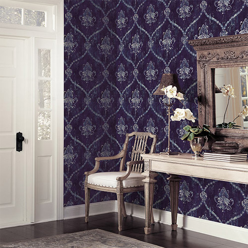 Norwall Classic Silks 2 Fresco Damask Wallpaper Roomset