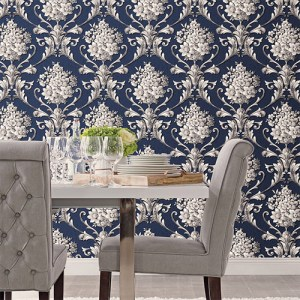 Norwall Classic Silks 2 Acanthus Damask Wallpaper Roomset