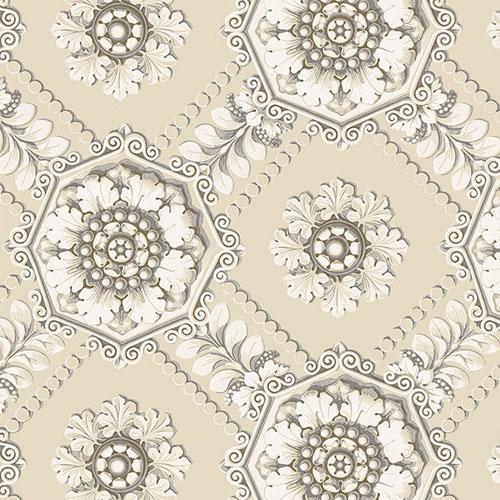 CS35628 Norwall Classic Silks 2 Plaster Relief Wallpaper Beige