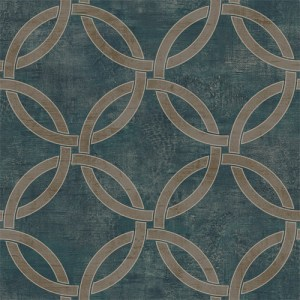 LD80204 Seabrook Lux Decor Newbury Wallpaper Teal